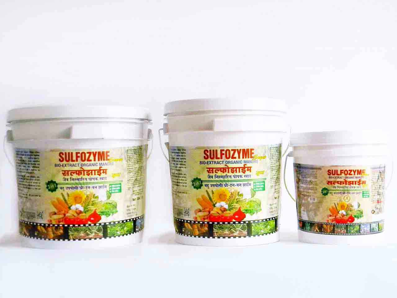 Sulfozyme with neem, sulfur | Zyme Buckets for crops and vegetables